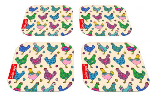 Selina-Jayne Chickens Limited Edition Designer Coaster Gift Set